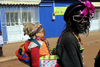 Bissau, Guinea Bissau / Guiné Bissau: 3 de Agosto Avenue, Carnival, parade, woman with doll / Avenida do 3 de Agosto, Carnaval, desfile, mulher boneco - photo by R.V.Lopes
