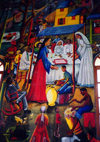 Haiti - Port au Prince: mural showing a wedding ceremony at Cana - Anglican church - photo by G.Frysinger