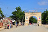Fort-Libert�, Nord-Est Department, Haiti: Triumphal arch at the city's entrance, with a portrait of Toussaint Louverture - La Belle Entr�e - photo by M.Torres
