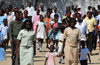 Fort-Libert�, Nord-Est Department, Haiti: Sunday scene - people leaving mass - dauphinois et dauphinoises - photo by M.Torres