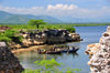 Fort-Libert�, Nord-Est Department, Haiti: fishermen, cliffs, alluvial plains and the North mountains - photo by M.Torres
