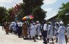 Haiti - Cap-Haitien - countryside: a religious procession - photo by G.Frysinger