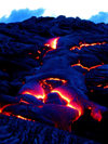 Hawaii island - Kilauea volcano: Pahoehoe lava on East Rift Zone of the Kilauea - Hawaii Volcanoes National Park - UNESCO World Heritage Site - photo by R.Eime