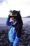 Heard Island: Eric sporting the latest in kelp hats (photo by Eric Philips)