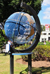 Tegucigalpa, Honduras: globe at Parque Central - Plaza Moraz�n - photo by M.Torres