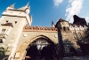 Hungary / Ungarn / Magyarorsz�g - Budapest: Vajdahunyad castle - the gate (photo by Miguel Torres)