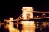 Hungary / Ungarn / Magyarország - Budapest: the Danube and the Chain bridge at night - view from Buda - Banks of the Danube - Uesco world heritage site (photo by Miguel Torres)