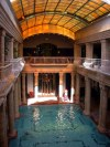 Hungary / Ungarn / Magyarország - Budapest: Gellért Baths - swimming pool from the galleries / Gellért Gyógyfúrdö (photo by Dr Robert Ziff)