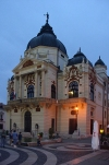 Hungary / Ungarn / Magyarorsz�g - P�cs / Sopianae: National Theatre at dusk (photo by J.Kaman)