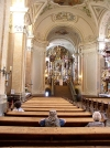 Hungary / Ungarn / Magyarorsz�g -Tihany (Veszpr�m province): the Abbey church - interior - carvings by Sebastian Stuhlhof (photo by J.Kaman)