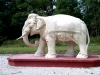 Hungary / Ungarn / Magyarorsz�g -  Somogyv�mos (Somogy province): Statue of elephant - Krishna Valley - Krishna Valley Indian Cultural Centre and Bio farm - elefante branco (photo by J.Kaman)