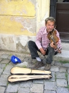 Hungary / Ungarn / Magyarorsz�g - Sopron: street musician playing violin (photo by J.Kaman)