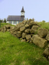 Iceland Church and stone wall, Pingvelier (photo by B.Cain)