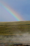 Iceland Rainbow near Geyser - Haukadalur valley - photo by W.Schipper