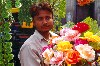 India - New Delhi: flower seller (photo by Francisca Rigaud)