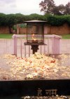 New Delhi / DEL : Mohandas Karamchad Gandhi memorial - Mahatma Gandhi 's cremation site  (photo by Miguel Torres)