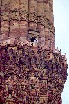 India - Delhi: Qutab Minar - UNESCO world heritage - balcony (photo by Francisca Rigaud)