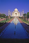 India - Agra, Uttar Pradesh: Taj Mahal - garden and the main building - one of the New Seven Wonders of the World - photo by E.Petitalot