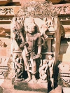 India - Khajuraho temples (Madhya Pradesh): Shiva at Vishnavath Temple (photo by B.Cloutier)