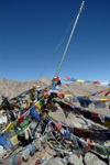 India - Ladakh - Jammu and Kashmir: cairn and prayer flags - photos of Asia by Ade Summers