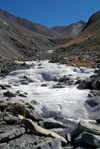 India - Ladakh - Jammu and Kashmir: frozen stream - photos of Asia by Ade Summers