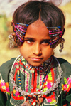 India - Gujarat, India: Harijan girl with her typical jewels and clothes - photo by E.Petitalot