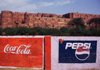 India - Agra, Uttar Pradesh: sodas advertise in front of the Red Fort - Coca-Cola and Pepsi cola ads -  photo by E.Petitalot