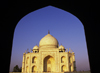 India - Agra, Uttar Pradesh: Taj Mahal - the golden light of the late afternoon - photo by E.Petitalot