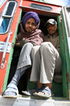 India - Manali to Leh highway: passengers - photo by M.Wright