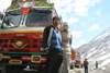India - Manali to Leh highway: truck drivers and their Tatas - photo by M.Wright