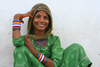 Pushkar, Rajasthan, India: smiling young woman - photo by M.Wright