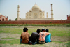 Agra, Uttar Pradesh, India: view from the back of the Taj Mahal - photo by G.Koelman