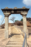 India - Sravanabelagola: steps carved in rock (photo by Miguel Torres)