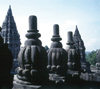 Java - Borobudur: stupas - Mahayana Buddhist monument - photo by M.Sturges