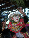 Indonesia - Bali: mask - story teller at temple festival - photo by M.Sturges