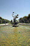 Iran - Tehran - Laleh Park- statue of Biruni, a medieval Persian astronomer - photo by M.Torres