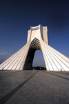 Iran - Tehran - Shahyaad Monument - Azadi square - designed by Bah�'� architect, MohandesHossein Amanat - photo by M.Torres