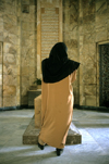Iran - Shiraz: woman at the Mausoleum of Saadi - 13th century Persian sufi poet - Sa'diyeh settlement - photo by W.Allgower