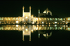 Iran - Isfahan: Imam Mosque - Masjed-E Emam - reflection in the pond - nocturnal - Naghsh-i Jahan Square - photo by W.Allgower
