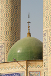 Iran - Shiraz: green dome of a modern Mosque - photo by M.Torres