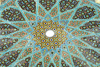 Iran - Shiraz: Mausoleum of Hafez - Islamic geometrical motives - dome above the tomb - photo by M.Torres