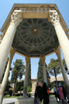 Iran - Shiraz: Mausoleum of Hafez - people at the poet's tomb - photo by M.Torres