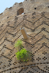 Iran - Shiraz: brickwork detail - textured brick patterning - Karim Khan Zand citadel - photo by M.Torres