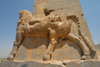 Iran - Persepolis: Gate of all the nations - western portico - bull - photo by M.Torres