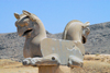 Iran - Persepolis: statue of double headed Homa - photo by M.Torres