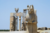Iran - Persepolis: Gate of all the Nations and double-headed Homa bird - photo by M.Torres