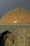 Iran - Isfahan: Sheikh Lotf Allah Mosque - tile decorated dome - photo by W.Allgower
