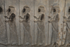 Iran - Persepolis: Apadana - soldiers of the Achaemenid empire - photo by M.Torres