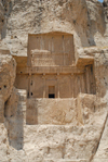 Iran - Naqsh-e Rustam: tomb attributed to Artaxerxes I Makrocheir - cliff face - photo by M.Torres