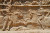 Iran - Naqsh-e Rustam: equestrian victory monument of Bahram II, below the tomb of Darius I the Great - Sassanian age - photo by M.Torres